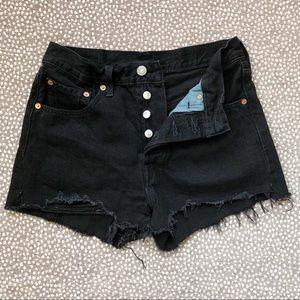 Levi's Shorts - Levi's 501 Black Cutoff High Waisted Shorts
